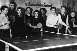 TSV Aue Wingeshausen Die Tischtennismannschaft der Anfangszeit